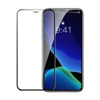 Baseus 2x full-screen curved tempered glass with frame screen protector for iPhone 11 / iPhone XR black (SGAPIPH61-WD01)