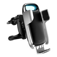 Baseus Milky Way 15W wireless Qi car charger phone automatic holder silver (WXHW02-0S)
