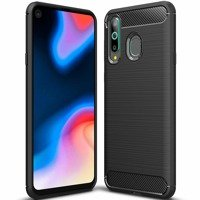 Carbon Case Flexible Cover TPU Case for Huawei Honor 20 Lite black