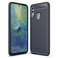 Carbon Case Flexible Cover TPU Case for Huawei P Smart Plus 2019 / Honor 10 Lite blue