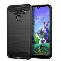 Carbon Case Flexible Cover TPU Case for LG Q6 black