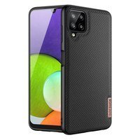 Dux Ducis Fino case covered with nylon material for Samsung Galaxy A22 4G black