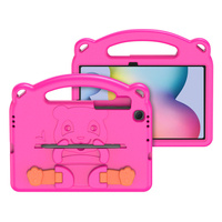 Dux Ducis Panda kids safe soft tablet case for Samsung Galaxy Tab S6 Lite with a holder for stylus pen pink