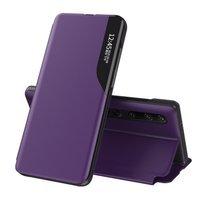 Eco Leather View Case elegant bookcase type case with kickstand for Xiaomi Mi 10 Pro / Xiaomi Mi 10 purple