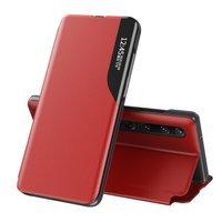 Eco Leather View Case elegant bookcase type case with kickstand for Xiaomi Mi 10 Pro / Xiaomi Mi 10 red