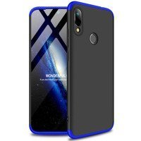 GKK 360 Protection Case Front and Back Case Full Body Cover Huawei Y6 2019 / Huawei Y6s 2019 black-blue