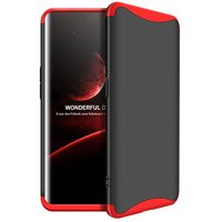 GKK 360 Protection Case Front and Back Case Full Body Cover Oppo Find X black-red