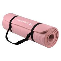Gymnastic non slip mat for exercising 181 cm x 63 cm x 1 cm light pink