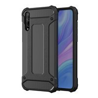 Hybrid Armor Case Tough Rugged Cover for Huawei P Smart S / Y8p black