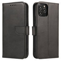 Magnet Case elegant bookcase type case with kickstand for Huawei P20 Pro black