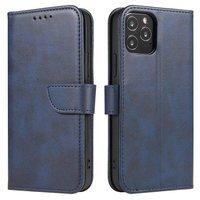 Magnet Case elegant bookcase type case with kickstand for Huawei P40 Lite 5G / Huawei Nova 7 SE blue