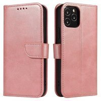 Magnet Case elegant bookcase type case with kickstand for Huawei Y5p pink