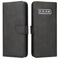 Magnet Case elegant bookcase type case with kickstand for Samsung Galaxy S10+ (S10 Plus) black