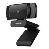 Papalook Full HD 1080p webcam with microphone for laptop monitor computer black (AF925)