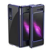 Plating Case hard case Electroplating frame Cover for Samsung Galaxy Fold blue