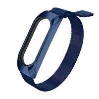 Replacment metal band bracelet strap for Xiaomi Mi Band 5 / Mi Band 4 / Mi Band 3 blue