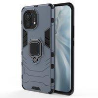 Ring Armor Case Kickstand Tough Rugged Cover for Xiaomi Mi 11 blue