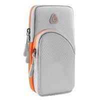 Running armband sports phone band case gray
