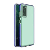 Spring Case clear TPU gel protective cover with colorful frame for Xiaomi Mi 10T Pro / Mi 10T dark blue