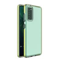 Spring Case clear TPU gel protective cover with colorful frame for Xiaomi Mi 10T Pro / Mi 10T yellow