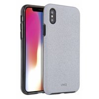 UNIQ etui Lithos iPhone Xs Max jasno -szary/ light grey