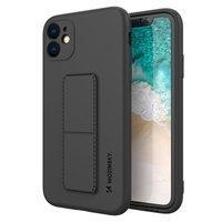 Wozinsky Kickstand Case flexible silicone cover with a stand Oppo Reno 4 5G / Reno 4 black