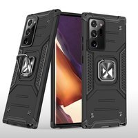 Wozinsky Ring Armor Case Kickstand Tough Rugged Cover for Samsung Galaxy Note 20 Ultra black