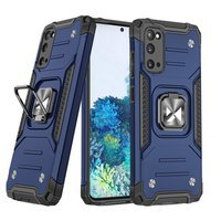 Wozinsky Ring Armor Case Kickstand Tough Rugged Cover for Samsung Galaxy S20 Ultra blue