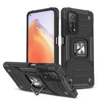 Wozinsky Ring Armor Case Kickstand Tough Rugged Cover for Xiaomi Mi 10T Pro / Mi 10T black