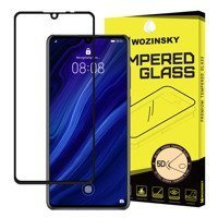 Wozinsky Tempered Glass 5D Full Glue Super Tough Screen Protector Full Coveraged with Frame for Huawei P30 black