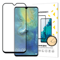 Wozinsky Tempered Glass Full Glue Super Tough Screen Protector Full Coveraged with Frame Case Friendly for Huawei Mate 20 black