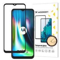 Wozinsky Tempered Glass Full Glue Super Tough Screen Protector Full Coveraged with Frame Case Friendly for Motorola Moto G9 Play / Moto E7 Plus black