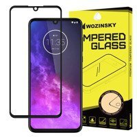 Wozinsky Tempered Glass Full Glue Super Tough Screen Protector Full Coveraged with Frame Case Friendly for Motorola One Zoom black