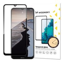 Wozinsky Tempered Glass Full Glue Super Tough Screen Protector Full Coveraged with Frame Case Friendly for Nokia G10 black