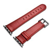 iCarer Leather Vintage wristband genuine leather strap for Watch 3 42mm / Watch 2 42mm / Watch 1 42mm red (RIW118-RD)