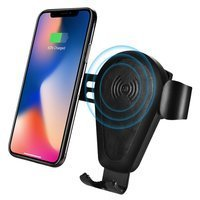 iCarer wireless car Qi charger 10W air vent gravity car mount black (IWXC004-BK)