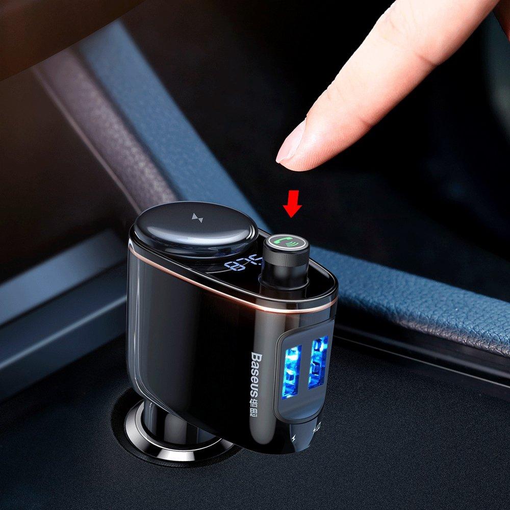 Baseus Locomotive Bluetooth FM Transmitter MP3 Car Charger 2x USB5