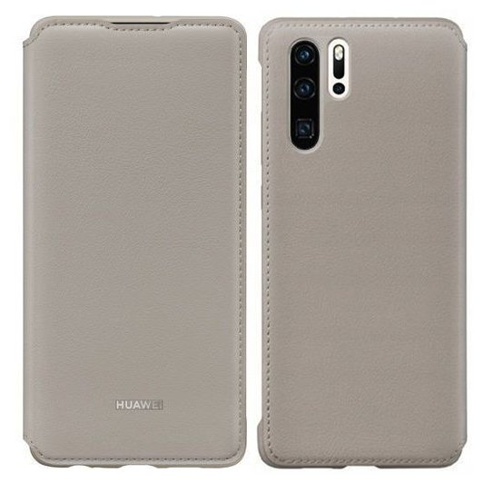 Huawei Wallet Cover Bookcase Type Case for Huawei P30 Pro khaki