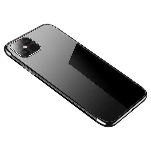 Clear Color Case Gel TPU Electroplating frame Cover for Samsung Galaxy A12 / Galaxy M12 black