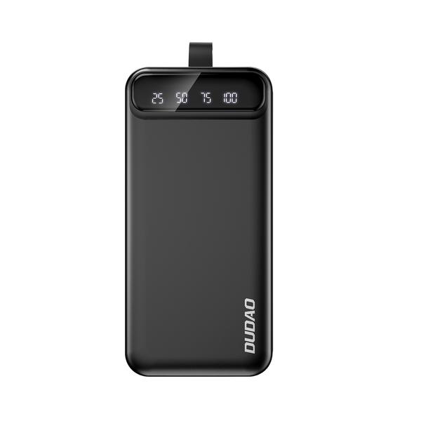 Dudao power bank 30000 mAh 3x USB with LED lamp black (K8s+ black)