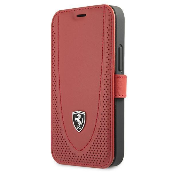 "Ferrari FEOGOFLBKP12SRE iPhone 12 mini 5.4 ""red / red book Off Track Perforated"