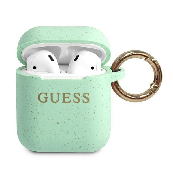 Guess GUACCSILGLGN AirPods cover green / green Silicone Glitter