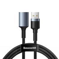 Baseus Cafule wytrzymały nylonowy kabel przewód przedłużacz USB 3.0 (męski) / USB 3.0 (żeński) 2 A 1 m szary (CADKLF-B0G)