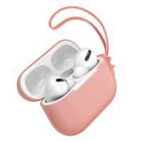 Baseus Let''s go AirPods Pro Case silikonowe etui na słuchawki AirPods Pro + mini smycz pomarańczowy (WIAPPOD-D07)