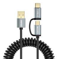 Choetech 2w1 kabel przewód USB - USB Typ C / micro USB 1,2m czarny (XAC-0012-101BK)