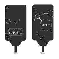 Choetech adapter do bezprzewodowego ładowania Qi micro USB (dolny) wkładka indukcyjna czarny (WP-MICRO-201BK)