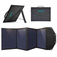 Choetech składana ładowarka solarna słoneczna fotowoltaiczna 100W 2x USB / 1x USB Typ C Power Delivery Quick Charge czarny (SC009)