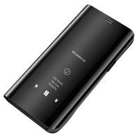 Clear View Case futerał etui z klapką Samsung Galaxy A10 / Galaxy M10 czarny