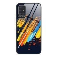 Color Glass Case etui pokrowiec nakładka ze szkła hartowanego z osłoną na aparat Samsung Galaxy A71 pattern 5