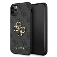 Guess GUHCN654GMGGR iPhone 11 Pro Max szary/grey hardcase 4G Big Metal Logo